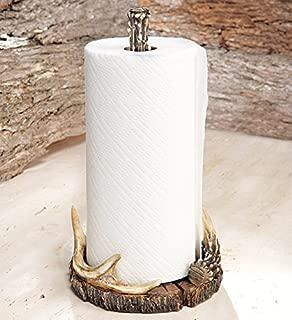 Modern Rustic Farmhouse Paper Towel Holder Kitchen Home Countertop Vintage Decor (Antler Paper)