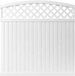 6 ft. x 6 ft. Lewiston Arched Lattice Top Vinyl Fence Panel - Unassembled