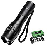 Torcia LED, Ultra Luminoso 1200LM Torcia Impermeabile Ricaricabile Tascabile Militare...