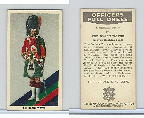 U10-3 U.K. Tobacco, Officers Full Dress, 1936, 29 Black Watch