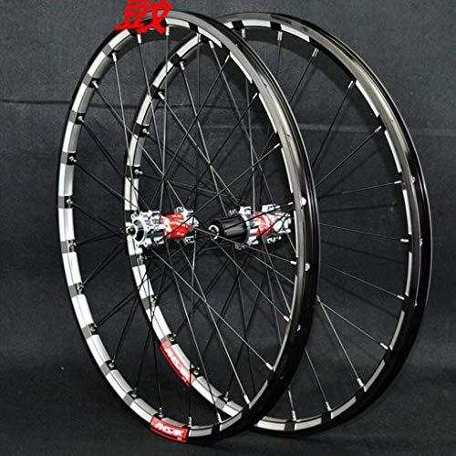 LSRRYD Ruote Bici 26 27,5 29 Pollici MTB Cerchi CNC Freno Disco Ruota Ciclismo Bici Corsa Mozzi Cuscinetti Sigillati 24 Ha Parlato per Volano Cassetta 7-12 velocità QR (Color : A, Size : 27.5inch)