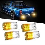 4pcs 20-LED Super Bright Emergency Warning Light, Ultra Slim Hazard Warning Light/Turning Light 12-24V for...