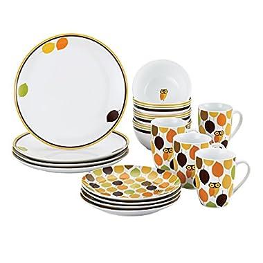 Rachael Ray Dinnerware Little Hoot 16-Piece Dinnerware Set