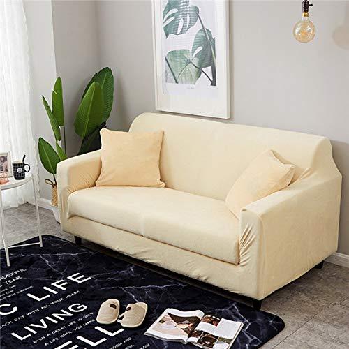 Funda de sofá, Espesar peluche elástico sofá cubiertas para la sala de estar equipos de esquina de la esquina de la esquina para la cubierta del sofá 1/2/3/4 plazas de color sólido para sofás