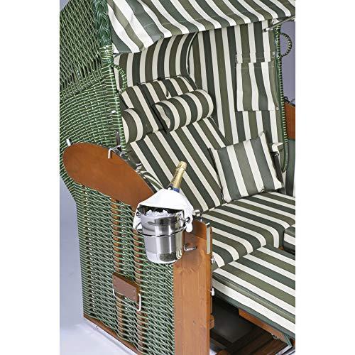 Sektkühler aus Edelstahl für Sonnenpartner Strandkörbe (Halterung bitte separat bestellen)