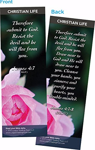Christian Bookmark with Bible Verse, Christian Life Themed, Therefore Submit to God, James 4:7