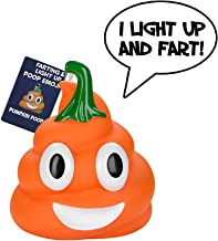 Halloween Pumpkin Poop Emoji - Lights Up and Farts - Great Halloween Toys for Kids - 7 Funny Farting Sounds – Squeeze to Play - Measures a Cute (4 x 4.5)