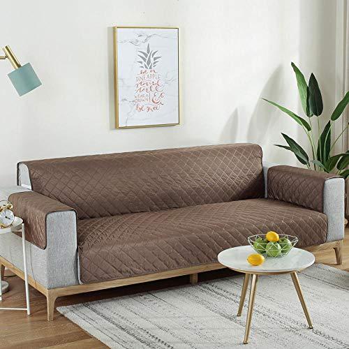 Cxypeng Couch Coat, la Funda de sofá Impermeable,Cojín de sofá Integrado de Pelo pegajoso para Gatos a Prueba de Agua,Funda para pañales para Mascotas-Coffee_167 * 190,Cubre Sofa Acolchado Reversible