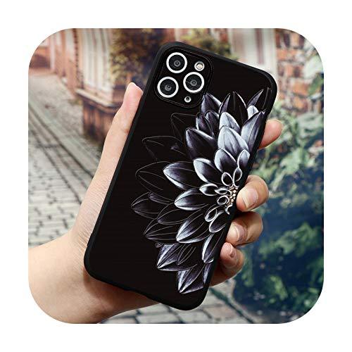 Phonecase - Carcasa de silicona para iPhone 6, 7, 6S, 8 Plus, 5, 5S, SE 2020, 10 X Xr Xs 11 12 Pro Max Tpu Relief Back Cover - Ybzihua - para iPhone XS Max