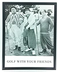 Curly, Moe, and Larry on the golf course in Three Little Beers