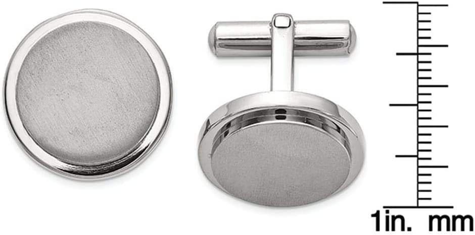 Titanium Brushed and Polished Cuff Links White Men's