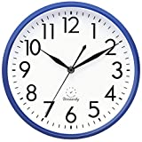 DreamSky Wall Clocks Battery Operated - 10 Inches Silent Non-Ticking Quartz Wall Clock for Kitchen/Home Decor/Office/School, 3D Numbers Display Easy to Read