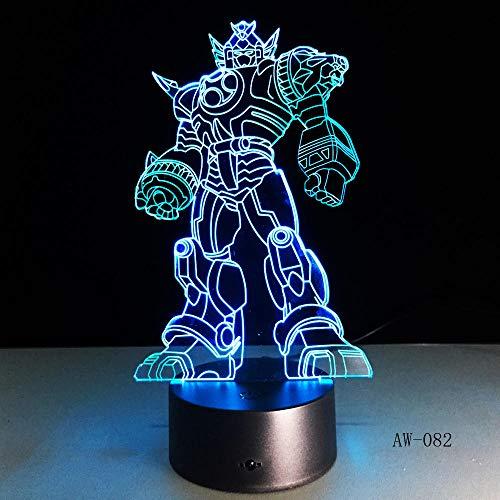 3D Cool Optimus Prime Charakter Junge Geschenk,Transformers Illusion Schreibtisch Tisch RGB Led Nachtlicht Bunte Lamparas Lampe