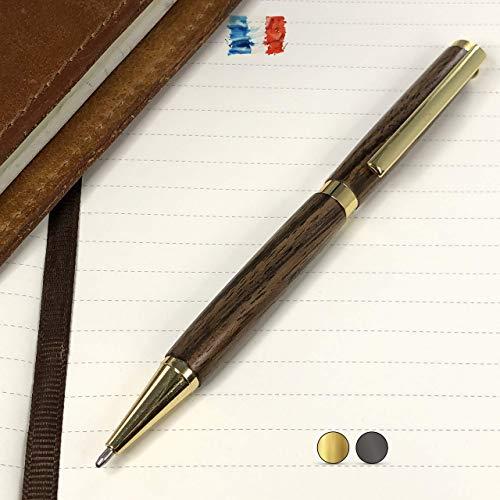 Bolígrafo de madera de Nogal de los Pirineos fabricado a mano en Fran