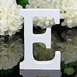 Freeas Décoratif Bois Lettres, 26 Alphabet Blanc Lettres en Bois...