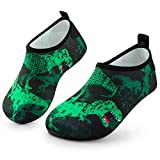 Sunnywoo Water Shoes for Kids Girls Boys,Toddler Kids Swim Water Shoes Quick Dry Non-Slip Water Skin Barefoot Sports Shoes AquaSocks for Beach Outdoor Sports,12.5-13.5 Little Kid,Tyrannosaurus