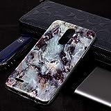Dmtrab Phone Case pour LG K10 (2018) Cas, Motif de marbre Doux TPU Coque de Couverture de Protection...