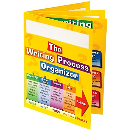 """Really Good Stuff Writing Process 4-Pocket Laminated Student Folders, 9½"""" by 12"""" (Set of 12) – Keep Students Organized and Teaches Writing Process – Store Work-in-Progress and Monitor Progression"""
