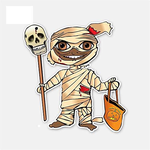11Cm * 12Cm Autozubehör Cartoon Halloween Mumie Motorrad Aufkleber Autoaufkleber Zubehör