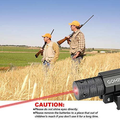 GOHIKING Hot Tactical Red Laser Beam Dot Sight Scope for Gun Rifle Pistol Picatinny Mount