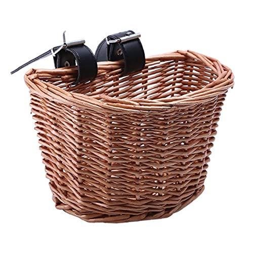 Ratán bicicletas cesta delantera de la bicicleta cesta extraíble impermeable multifunción manillar de la bici Cesta accesorios Gran Jardín