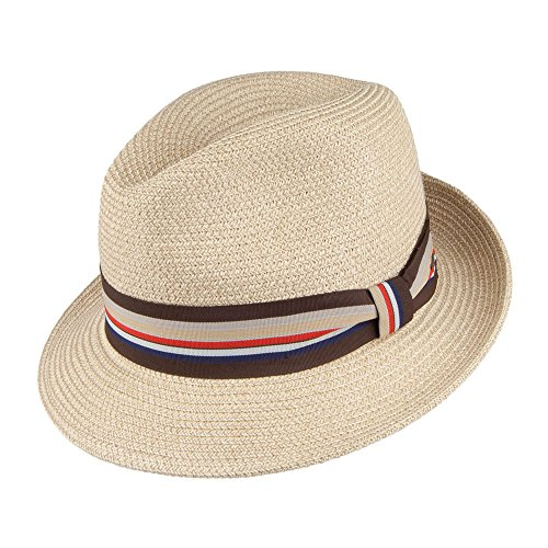 Village Hats Chapeau Fedora Salem II Naturel Bailey - Medium