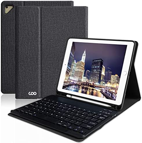 iPad Keyboard Case with Pencil Holder for 9 7 iPad Pro 2018 6th Gen 2017 5th Gen iPad Air 2 product image