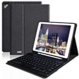 iPad Keyboard Case with Pencil Holder for 9.7 iPad Pro 2018 (6th Gen) /2017 (5th Gen), iPad Air 2/Air 1, Wireless Bluetooth Detachable Protective Cover, Smart Auto Sleep-Wake (Black)