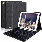 COO iPad 9.7 キーボード ケース Apple pencil 収納 ペンシルホルダー付き ワイヤレス Bluetooth キーボード 脱着式 手帳型 オートスリープ機能 多角度調整 日本語説明書付着 対応iPad 9.7インチ(第5/第6世代)/iPad Air2/iPad Air/iPad Pro 9.7 (ブラック)