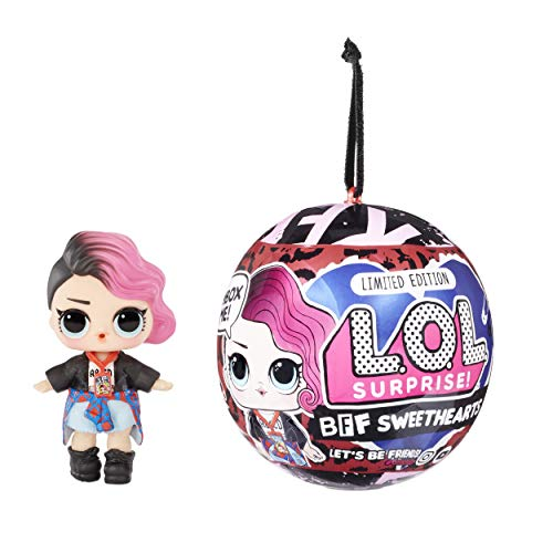 LOL Surprise BFF Sweethearts Rocker Doll with 7 Surprises, Surprise Doll, Accessories