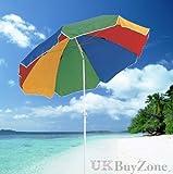Sonnenschirm für Garten, Strand und Terrasse, neigbar, mehrfarbig, Sonnenschutz UPF40 von THE MAGIC TOY SHOP