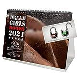Calendario de escritorio 2021 (21,0 x 14,8 cm) chica con pechos eroticos sexy Girls Boobs - Set con 3 partes: 1x calendario, 1x tarjeta de Navidad y 1x tarjeta de felicitación (3 partes en total)