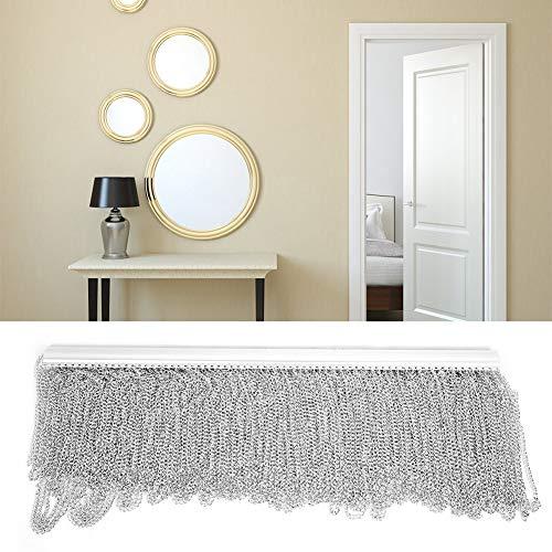 Cortina de cadena vertical para ventana de puerta, pantalla de mosca doméstica, cortina de cadena de aleación de aluminio cegadora vertical, cortina de tira de mosca de cadena para habitación, oficina