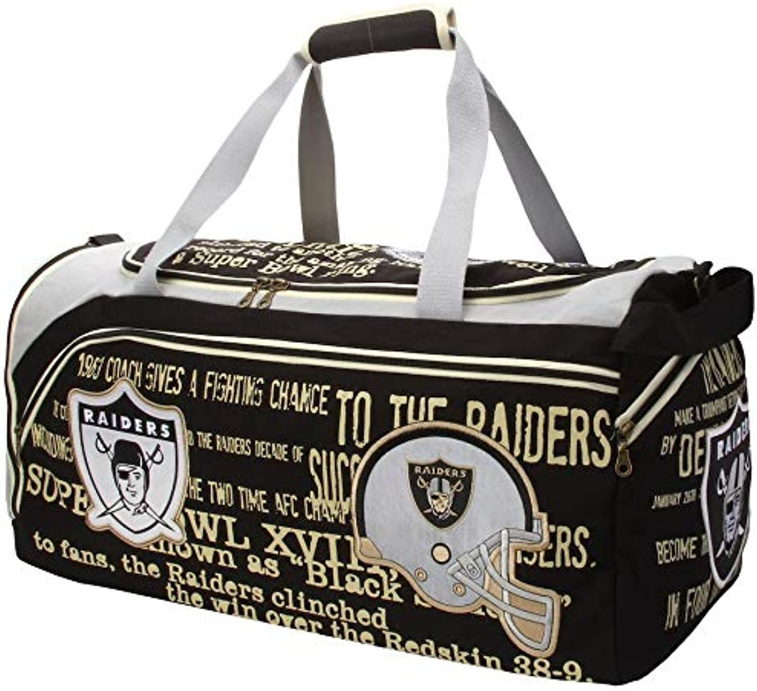Forever Collectibles NFL Oakland Raiders Duffle, Black