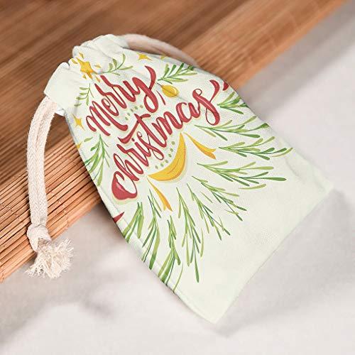 RNGIAN Weihnachtsbaum-Beutel für Neujahr, große Größe, zum Aufkleben für Camping, Picknick, 6 Stück, weiß, 12 * 18cm