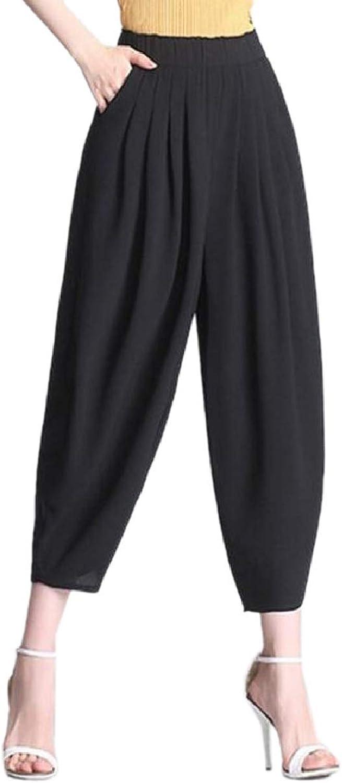 LEISHOP Women Boho Yoga Pants Harem Trousers Smock High Waist Trousers