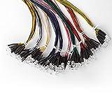 DiCUNO 100pcs 5mm LED Dioden mit 24-25CM(240-250MM)Kabel, 12V LEDs vorverdrahtetes Licht, mit Widerstand von 550Ω,10×10Farbe