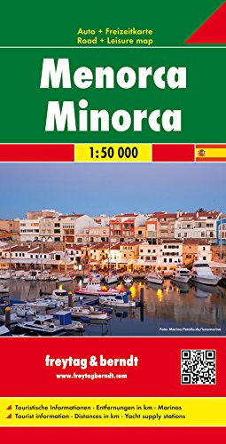 Menorca, mapa de carreteras. Escala 1:50.000. Freytag & Berndt.: Toeristische wegenkaart 1:50 000 (Auto karte)