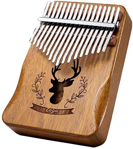 YUANSHENG High Quality 17 Key Carimba, Thumb Piano Kalimba 17 Sound Finger Piano, Hammer, Study Guide (Log Color)