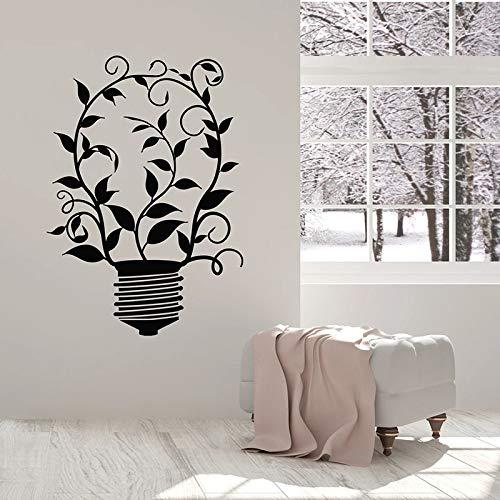 WERWN Vinilos Decorativos Productos ecológicos ecológicos Naturales Ideas Verdes Bombilla de luz Pegatinas de Vinilo para Ventanas Sala de Estar Escuela decoración de Interiores Arte