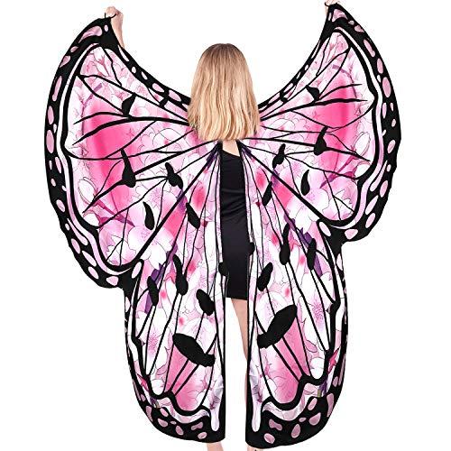 Butterfly Wings Costumes for Women,Butterfly Wings Shawl Halloween Costume Festival...