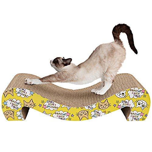 Animals Favorite Lieblingskartonkratzer Von Katzen - Kratzbaum für Katzen, Kratzbrett für Katzen mit Katzenminze