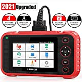 "LAUNCH Scan Tool-Auto OBD2 Scanner ABS SRS Engine Transmission Code Reader, 5.0"" Touchscreen Android 7.0, Free Wi-Fi Update, Auto VIN & Battery Test Car Diagnostic Scanner for All Cars- 2021 Ver."