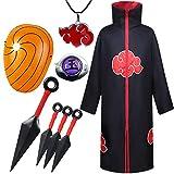AOGD Naruto Akatsuki Itachi Cape Costume Cosplay Halloween Fête Noël Déguisement...