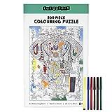 THE TWIDDLERS Puzzle de 500 Piezas (70x50cm) - Construir y Colorear   con 6 Rotuladores