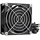 GDSTIME AC Axial Fan 80mm, 110V 115V 120V 80x80x25mm Dual Ball Bearing w/Power Cord for DIY Cooling Ventilation Exhaust Projects