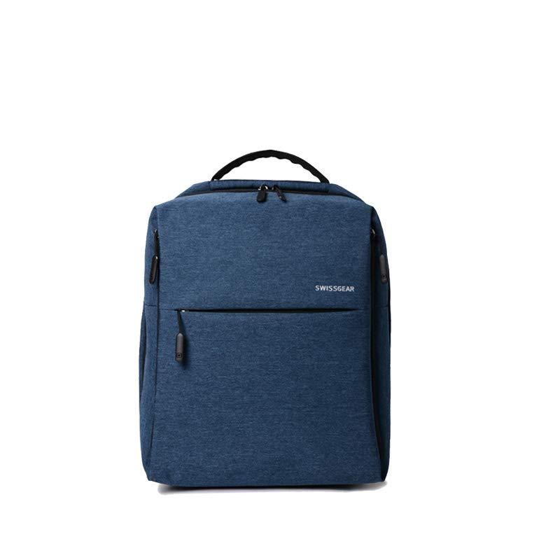 极简都市双肩包多功能学生书包电脑包男女时尚商务包 (蓝色)