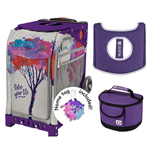Zuca 'Color Your Life' Sport Insert Bag, Purple Frame, Lunchbox and Seat Cushion