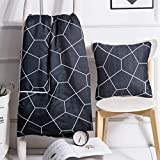 L&Z 2 in 1 Throw Pillows | Couch Pillow Quilt | Camping Pillow | CAR Blanket | Decorative Pillow [14 X 14 Inch] for Home and On The Road (Blue Pentagon)