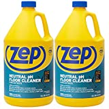 Zep Neutral pH Floor Cleaner Concentrate 1 Gallon (2 Pack) ZUNEUT128 - Pro Trusted All-Purpose Floor Cleaner…